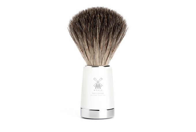 Mühle Pure Badger White Resin Shaving Brush