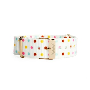 Nylonarmband Rose Gold Dots