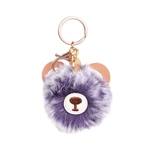 Purple bear pom