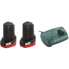 Metabo 2 x 2.0 Ah +LC40 10.8 V - Basic-Set