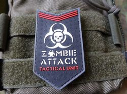 ZOMBIE ATTACK, 3D patch nášivka, suchý zip