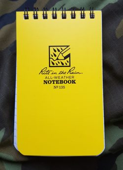 Voděodolný zápisník Rite in the Rain Pocket Notebook 3/5 Yellow