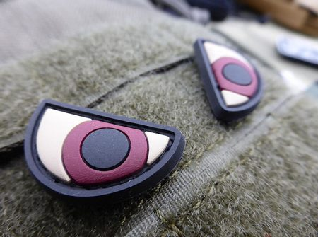 ANGRY EYES, 3D PATCH NÁŠIVKA, SUCHÝ ZIP