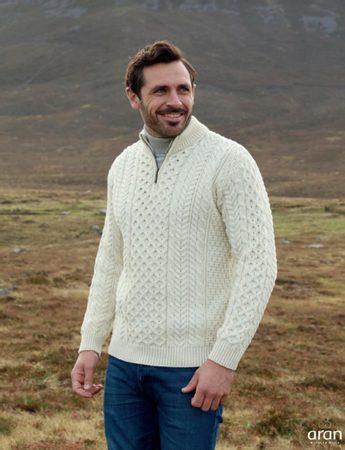 ARAN tradiční vlněný aranský svetr 770d4654c9