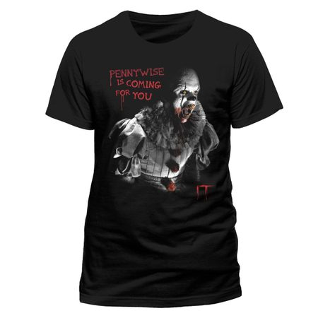 IT - COMING FOR YOU, ČERNÉ UNISEX TRIČKO