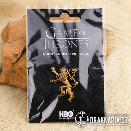 GAME OF THRONES PIN BADGE HOUSE LANNISTER PŘIPÍNÁČEK