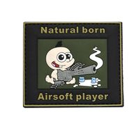 Velcro plasture - Natural born Airsoft player