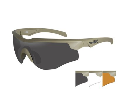Ochelari balistici WILEY X ROGUE - bronzat (set de 3 lentile)