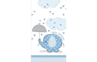 "Ubrus umbrellaphants ""Baby shower"" - Kluk / Boy 1,37 m x 2.13 m"