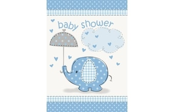 "Pozvánky umbrellaphants ""Baby shower"" - Kluk / Boy 8 ks"