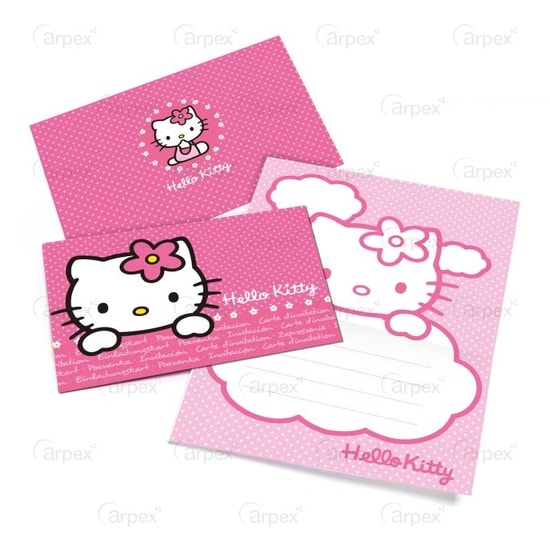 Pozvánky - Hello Kitty 6 ks