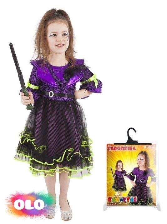 afbdb9730ed3 karnevalový kostým čarodějnice halloween fialová vel. S - RAPPA ...