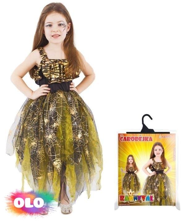 89e89646b6eb karnevalový kostým čarodějnice halloween zlatá vel. M - RAPPA ...