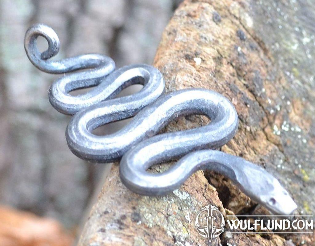 Silberanhänger Schlange handgeschmiedet