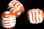 historical glass beads, replica