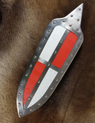 HUNGARIAN SHIELD, 15TH CENTURY, RED, WHITE - LIVING HISTORY SHIELDS