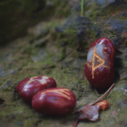 RED JASPER RUNE SET, OLD FUTHARK - DECORATIVE MINERALS AND ROCKS