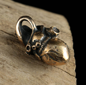 HUMAN HEART, BRONZE PENDANT - MIDDLE AGES, OTHER PENDANTS
