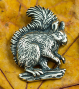 SQUIRREL, STERLING SILVER PENDANT - MYSTICA SILVER COLLECTION - PENDANTS