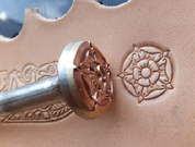 MEDIEVAL ROSE, LEATHER STAMP - LEATHER STAMPS