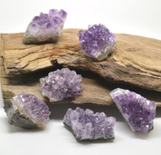 AMETHYST DRUSE, RAW STONE - DECORATIVE MINERALS AND ROCKS
