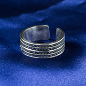 GEIR, VIKING RING, SILVER - FILIGREE AND GRANULATED REPLICA JEWELS