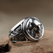 TRIGLAV SLAVIC RING SILVER 925 - RINGS - HISTORICAL JEWELRY