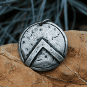SPARTAN SHIELD, PENDANT, ZINC - MIDDLE AGES, OTHER PENDANTS