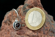 KAYLA, EARRINGS, GARNET, SILVER - EARRINGS WITH GEMSTONES, SILVER