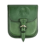 ALBA, SCOTTISH THISTLE, LEATHER BELT BAG - GREEN - BAGS, SPORRANS