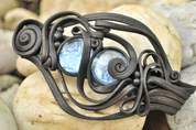 BLUE EYED HAIR CLASP - FANTASY JEWELS