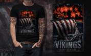 VIKINGS ON TOUR, MEN'S T-SHIRT COLORED - PAGAN T-SHIRTS NAAV FASHION