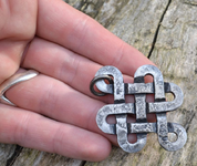 CELTIC KNOT OF LIFE, FORGED PENDANT - CELTIC PENDANTS