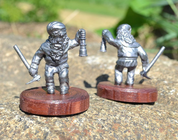 DWARF WITH A MINING BURNER, HISTORICAL TIN STATUE - PEWTER FIGURES