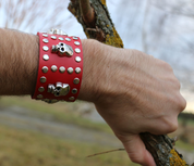 ROCKER, LEATHER BRACELET XXIV - WRISTBANDS