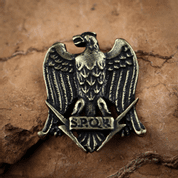 AQUILA, ROMAN EAGLE SPQR, PENDANT ANT. BRASS  ZINC - MIDDLE AGES, OTHER PENDANTS