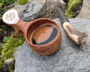VEGVÍSIR KUKSA, BIRCH BOWL FROM LAPLAND - DISHES, SPOONS, COOPERAGE