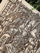 ODIN WALL DECORATION, WOOD 30X40CM - WOODEN STATUES, PLAQUES, BOXES