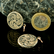IRISH SPIRALS - TRISKELE, BOOK OF KELLS, BRONZE PENDANT - BRONZE HISTORICAL JEWELS