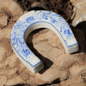 LUCKY HORSESHOE SMALL, HANDPAINTED CERAMICS - TRADITIONAL CZECH CERAMICS