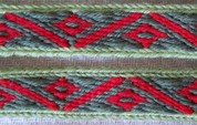 HEDDLE BELT - TABLET WOVEN STRAP XI, 1 METER - DECORATIVE TEXTILE BELTS
