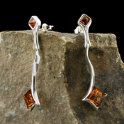 WARTA, AMBER, EARRINGS, STERLING SILVER - AMBER JEWELRY
