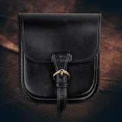 GENTLEMAN, LEATHER BELT BAG - BLACK - BAGS, SPORRANS