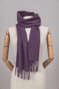 RICH PURPLE LAMBSWOOL SCARF - WOOLEN BLANKETS AND SCARVES, IRELAND