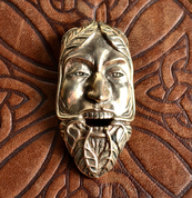 GREEN MAN, THE LORD OF THE NATURE AND REBIRTH, BRONZE PENDANT - CELTIC PENDANTS