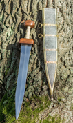 GLADIUS SWORD, TYPE MAINZ WITH SCABBARD, SHARP REPLICA - ANCIENT SWORDS - CELTIC, ROMAN