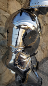 LUXURY POLISHED FULL ARMOUR, DECORATED BY BRASS, FULLY FUNCTIONAL, 1.5 MM - SUITS OF ARMOUR