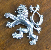 DOUBLE-TAILED LION, SYMBOL OF BOHEMIA, SILVER PENDANT, AG 925, 10 G - OLD SLAVS