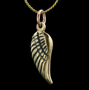 WING, BRONZE PENDANT - DRAGON FANTASY AMULETS