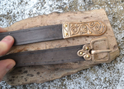 MORAVIA MAGNA, SLAVIC LEATHER BELT, BROWN - BELTS